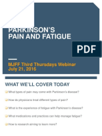 Mjff July 2016 Webinar Pain and Fatigue