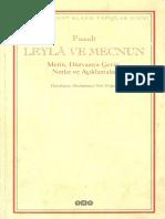 Muhammed Nur Doğan - Leyla Ile Mecnun - Metin - Düz Yazıya Çeviri - Notlar Ve Açıklamalar (Istanbul-2000)