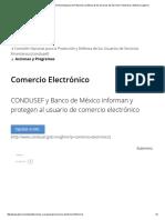 Comercio Electrónico _ Comisión Nacional Para La Protección y Defensa de Los Usuarios de Servicios Financieros _ Gobierno _ Gob