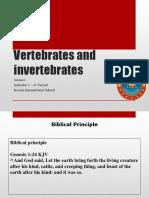 Step 5 - Science 4 Period Vertebrates and Invertebrates