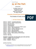 2010 Day at the Park Flyer