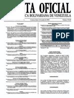 Sumario Gaceta Oficial 39.445