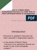 Nonunion in a Distal Radius Metaphyseal Fracture In