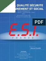 ESI Certificat Manuel Qualite 2013