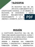 FILOSOFIA-mision y Vision Vecina