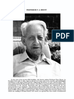 AW H. 1992 Obituary Professor PA Brunt