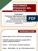Trastornos Hipertensivos 4to Año Conferencia