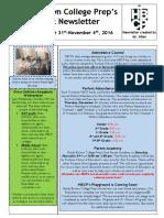 Newsletter - Week 12
