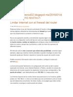 Limitar Internet Con El Firewall Del Router