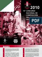 10º CONCURSO NACIONAL DE COMPOSICION DEL PASODOBLE FALLERO 2010