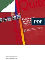 Plan de Desarrollo Territorial Distrito Metropolitano de Quito