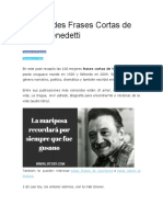 99 Grandes Frases Cortas de Mario Benedetti