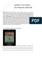 Barrero - La Novela Gráfica - Perversión Genérica de Una Etiqueta Editorial