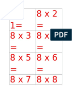 Cuadro Tabla Multiplicar