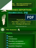 Lesiones Deportivas - Traumas en El Pie
