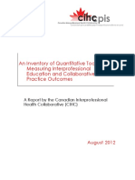 Canadian Interprofessional Health Collaborative Report