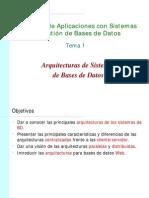 Arquitecturas Para Bases de Datos