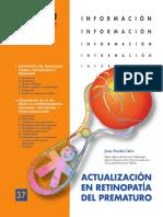 actualizacion en retinopatia del prematuro