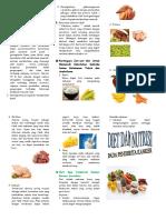 Leaflet Nutrisi Pada Penderita Kanker