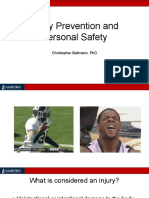 Injury Prevention and Personal Safety