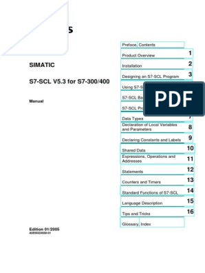 S7-SCL-manual pdf | Data Type | Programmable Logic Controller