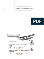 4 Forces Terminal Velocity PDF