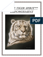 White Tiger Spirit Empowerment for Class
