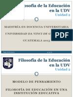 Filosofía de La Educación en La UDV - Video