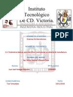 2.3. Parámetros Básicos, Para Identificar y Estructurar Un Sistema de Manufactura.