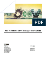 ANSYS Remote Solve Manager_Guide