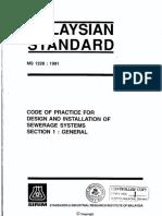 Malaysian Standard (Sewerage System) - MS-1228-1991.pdf