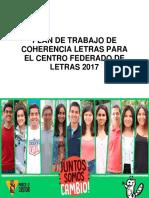 Plan de Trabajo Coherencia Letras 2017