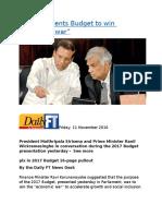 Ravi K presents Budget to win.docx