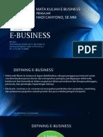 Introduction e Business
