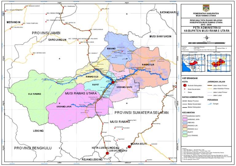 2 Peta Administrasi Kabupaten Musi Rawas Utara