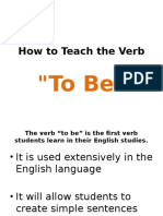 How to Teach the Verb