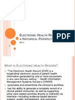 90130909 Electronic Health Record From a Historical Perspective