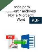 Pasos Para Convertir Archivos PDF a Microsoft Word SKARLETH