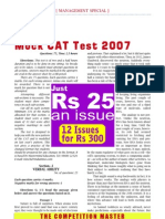 Mock Cat Test 2007