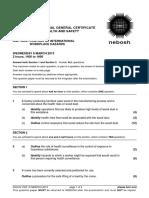 NEBOSH IGC2 Past Exam Paper March 2013
