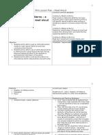 mini lesson plan - read aloud
