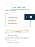 Zero, First, Second and Third Conditionals