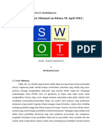 Contoh Analisis Swot Sederhan1