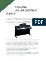 Cinco Pasos Para Embellecer Una Canción en El Piano