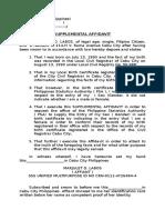 Supplemental Affidavit