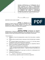 Decreto 73-Modifica D.S. 101 y 109