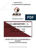 VLSI  Front End Lab Manual
