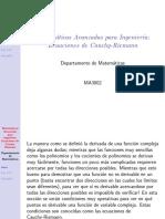Ma3002 Ecuaciones Cauchy Riemann