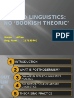 Applied Linguistics No Bookish