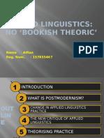 Applied Linguistics No Bookish